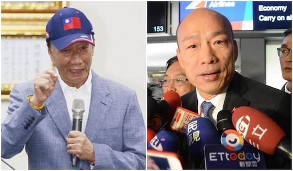 韓國瑜與郭台銘是國民黨內部較可能出線的總統候選人。 圖片來源:中時電子報