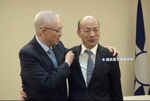 吳韓會-吳敦義與韓國瑜。 圖片來源:聯合新聞網