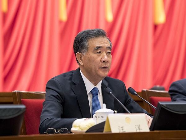 汪洋在中國媒體高峰會嘲諷美國疾呼統一。 圖片來源:多維新聞