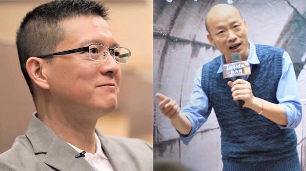 孫大千與韓國瑜。 圖片來源:TVBS