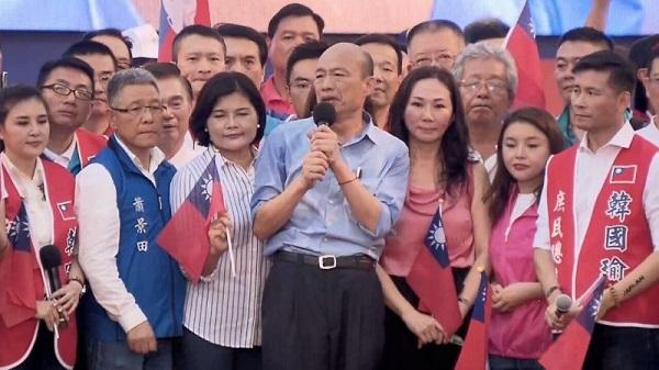 韓國瑜凱道造勢排擠國民黨其他派系。 圖片來源:雅虎奇摩新聞