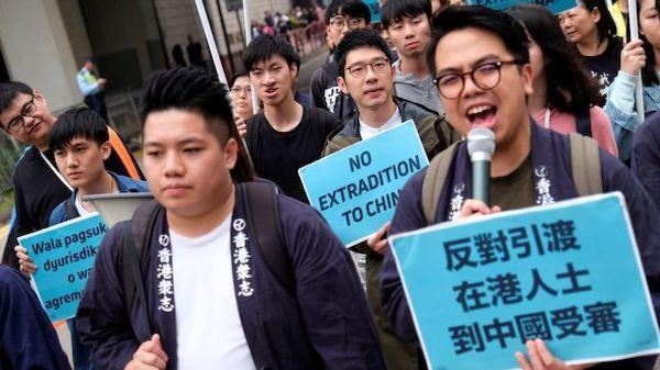 香港大規模抗議逃犯條例值得台灣警惕。 圖片來源:BBC