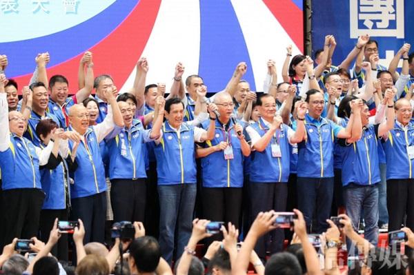 國民黨全代會沒出席或有出聲的,看來都不支持韓國瑜。 圖片來源:雅虎奇摩新聞