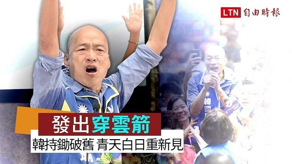 韓國瑜要發穿雲箭告洋狀。 圖片來源:自由時報