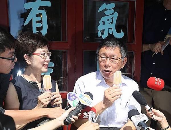 柯文哲說蔡英文旁邊的都貪污。 圖片來源:台北市政府