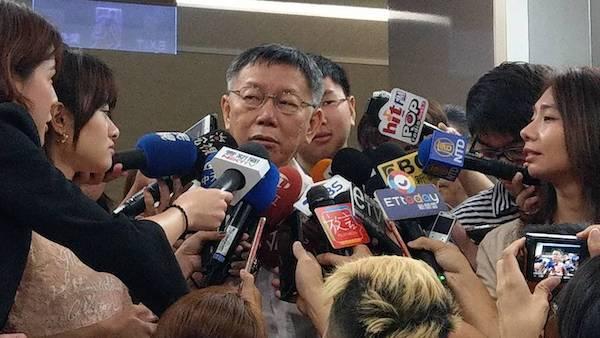 柯文哲說美國沒有要台灣買M1A2戰車。 圖片來源:聯合新聞網