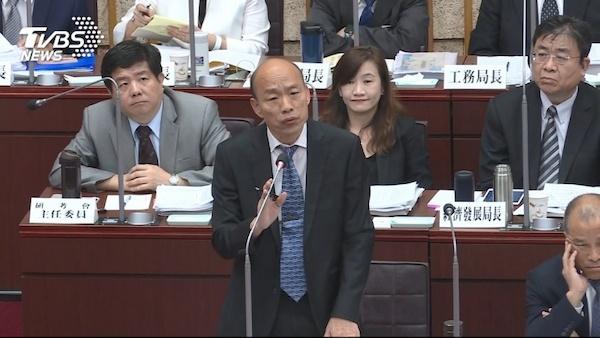 韓國瑜市長據傳十月中將請假專心選總統。 圖片來源:TVBS