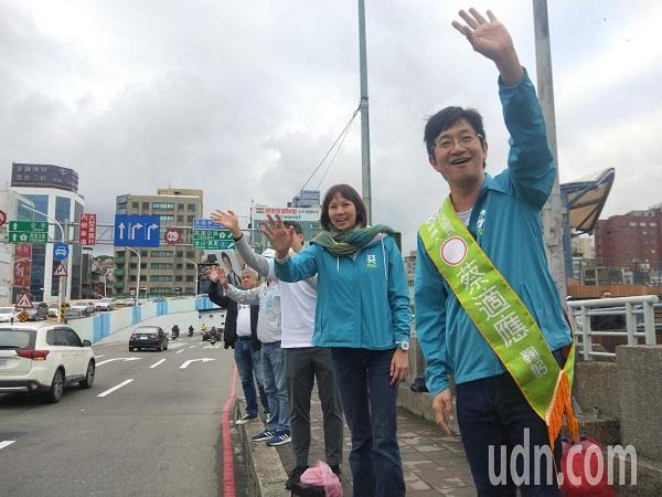 蔡適應與宋瑋莉決戰基隆立委選區。 圖片來源:UDN