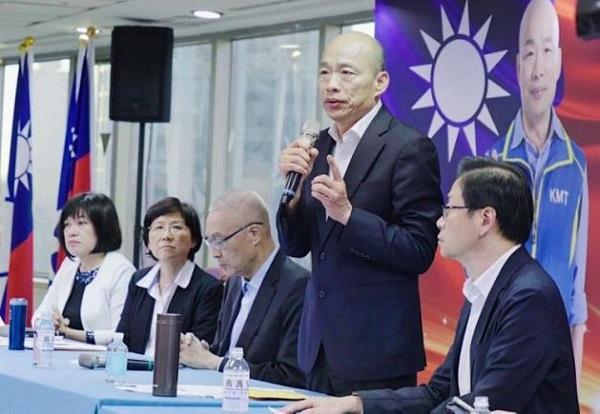韓國瑜民調低落影響民眾金援意願。 圖片來源:台灣好新聞