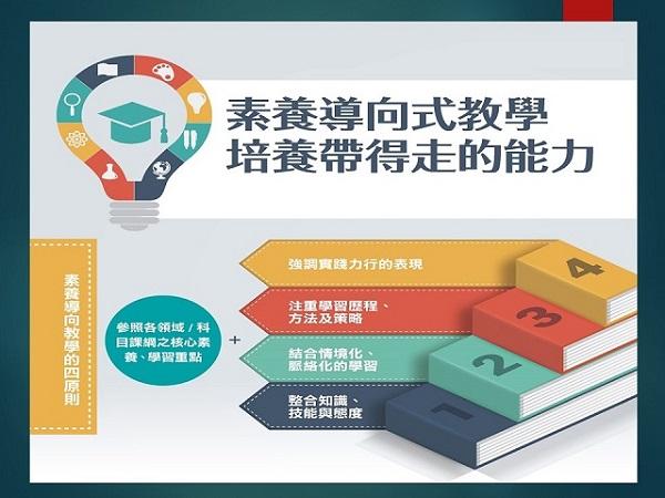 108課綱強調「素養導向」,培養帶得走的能力。 圖片來源:國教課綱向前行電子報