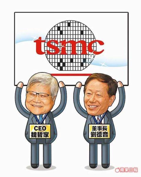 台積電董事長劉德音與總裁魏哲家組成雙首長制。 圖片來源:蘋果日報