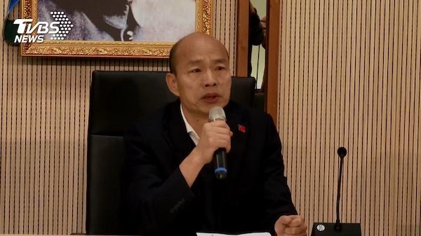 韓國瑜說1.6億選舉補助全被國民黨領走。 圖片來源:TVBS