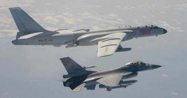 中共軍機又繞台。 圖片來源:外交部