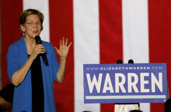 華倫退出民主黨總統初選。 圖片來源:法新社