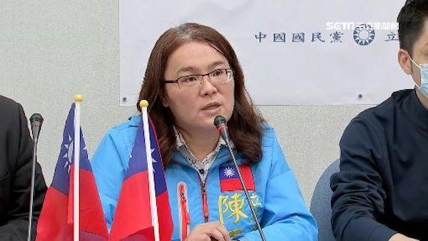 陳玉珍說「台灣不是國家」。 圖片來源:三立新聞