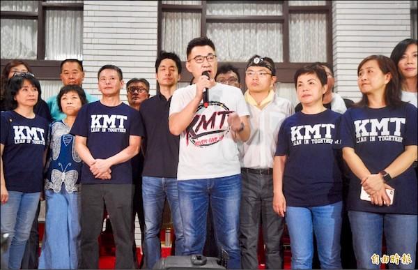 江啟臣帶領國民黨民代佔領立院。 圖片來源:自由時報