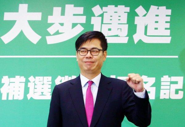 陳其邁投入高雄市長補選。 圖片來源:聯合新聞網