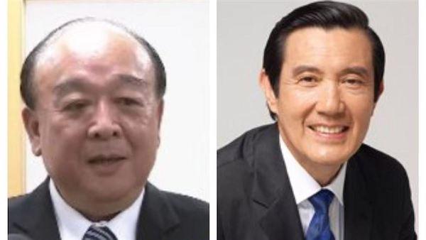 馬英九與吳斯懷一齊唱衰台灣,親中超明顯。 圖片來源:三立新聞