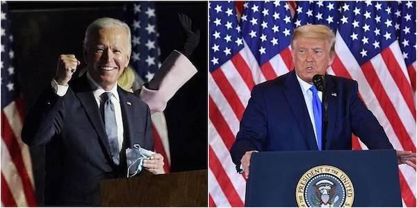 美國總統大選開票未完,選情陷入膠著。 圖片來源:自由時報