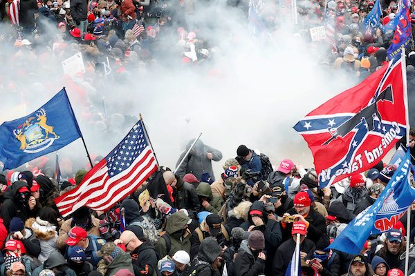 川粉攻入美國國會,被拿來與太陽花運動比擬。 圖片來源:聯合新聞網