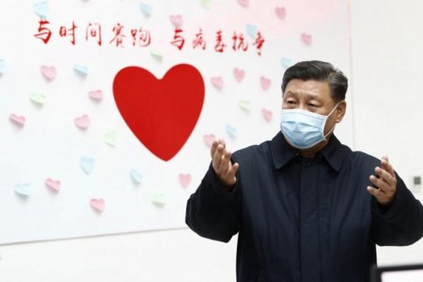 習近平能維穩是受惠於武漢肺炎。 圖片來源:自由時報