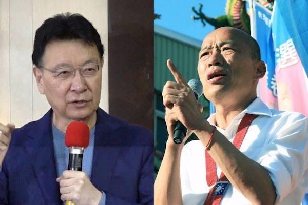 趙少康在韓國瑜支持下重回國民黨。 圖片來源:NOWNews