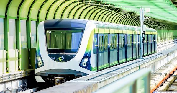 台中捷運一波三折,十三年後終於通車。 圖片來源:維基百科