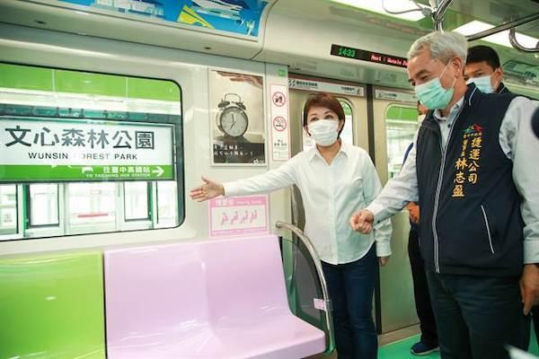 盧秀燕是中捷綠線的收成市長。 圖片來源:中時新聞網