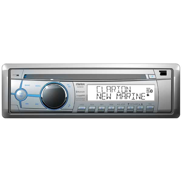 CLARION MARINE AUDIO M303 Stereo Receiver with Built-in Bluetooth