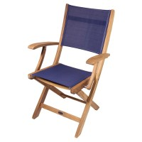 SEATEAK Bimini Teak Folding Deck Chair