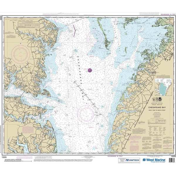 NOAA Maptech® NOAA Recreational Waterproof Chart-Chesapeake Bay Wolf