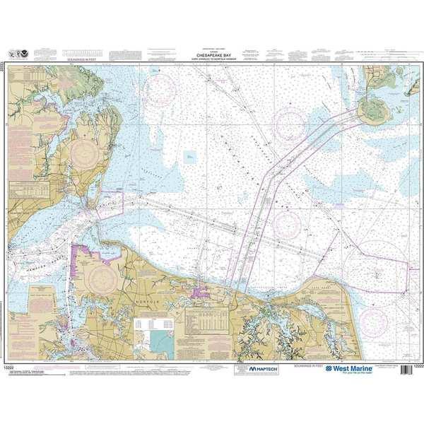 NOAA Maptech® NOAA Recreational Waterproof Chart-Chesapeake Bay Cape