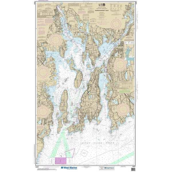 NOAA Maptech® NOAA Recreational Waterproof Chart-Narragansett Bay