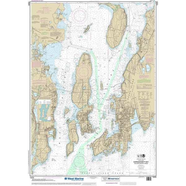 NOAA 13223, Maptech® NOAA Recreational Waterproof Chart-Narragansett