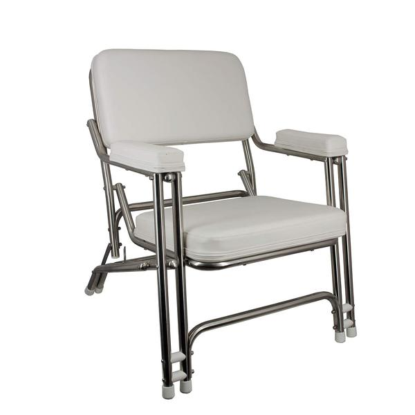 SPRINGFIELD Stainless Steel Folding Deck Chair