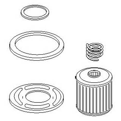 mercury outboard fuel filter element