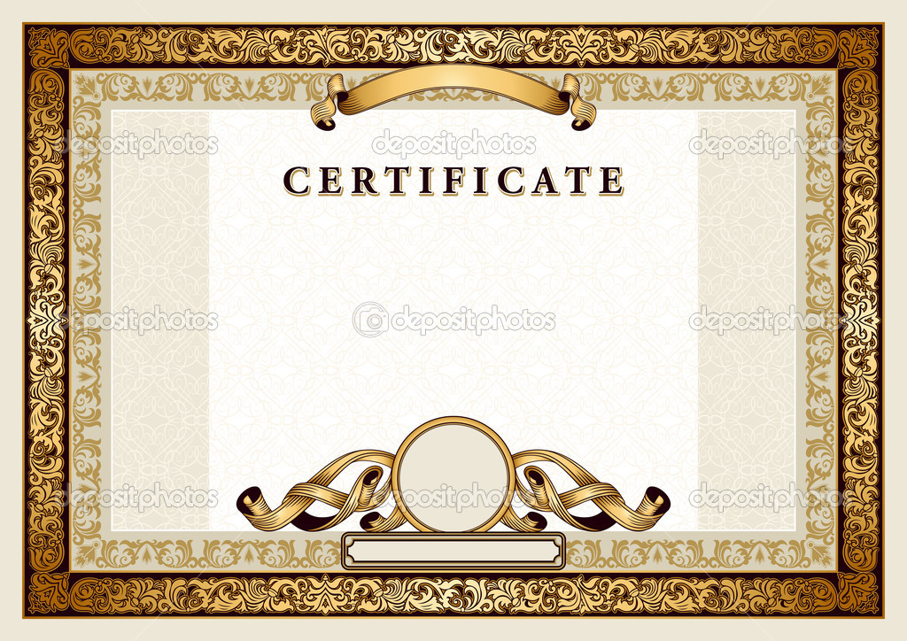 Similiar Gold Certificate Borders And Frames Keywords