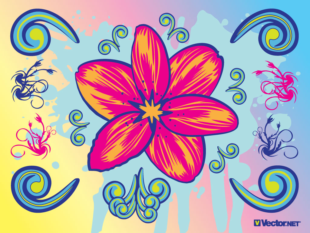 Design Art 12 Graphic Design Flowers Clip Art Images Cool Graphic