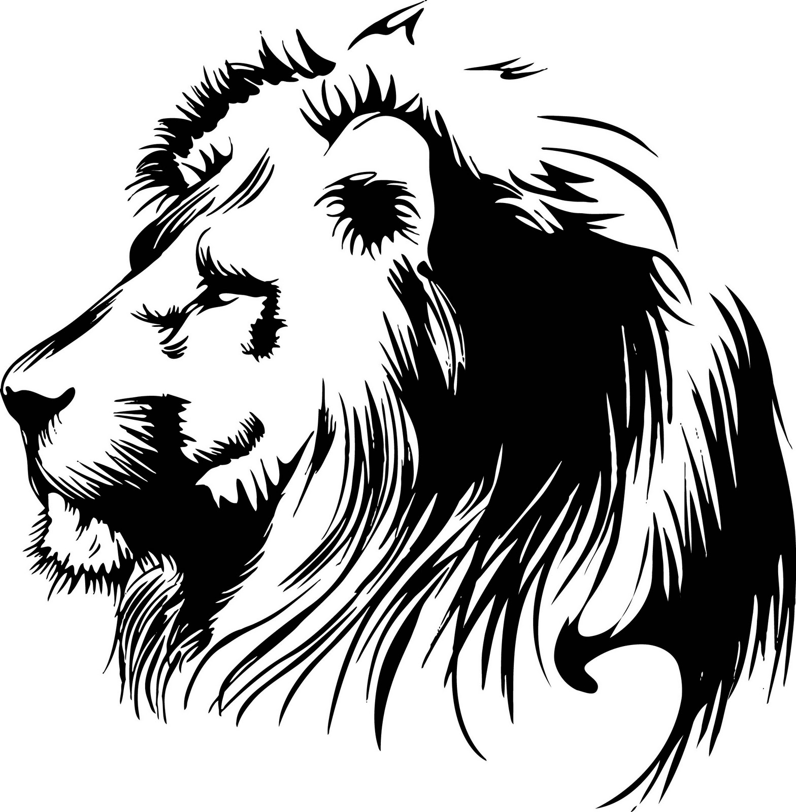 Roaring Lion Clip Art Black And White 15 Free Vector Lion Head Clip Art Images Vector Clip Art
