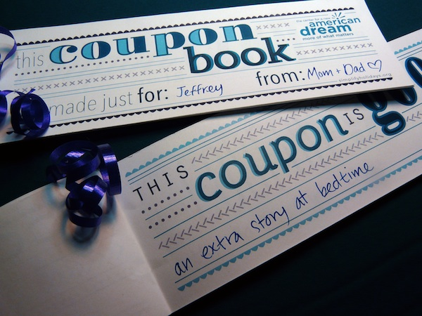 how to make a coupon booklet