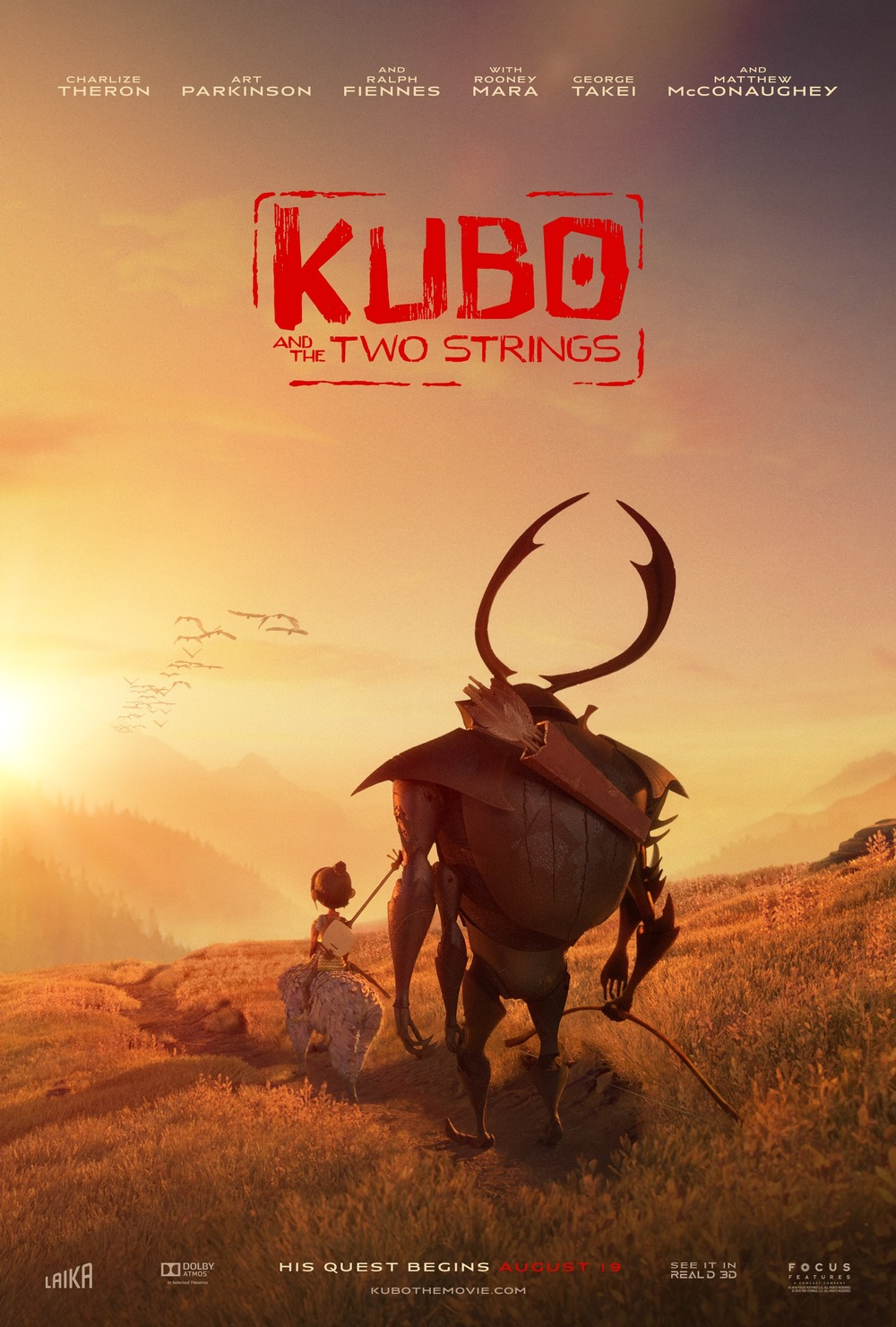 Large Frame For Poster Kubo And The Two Strings Dvd Release Date Redbox