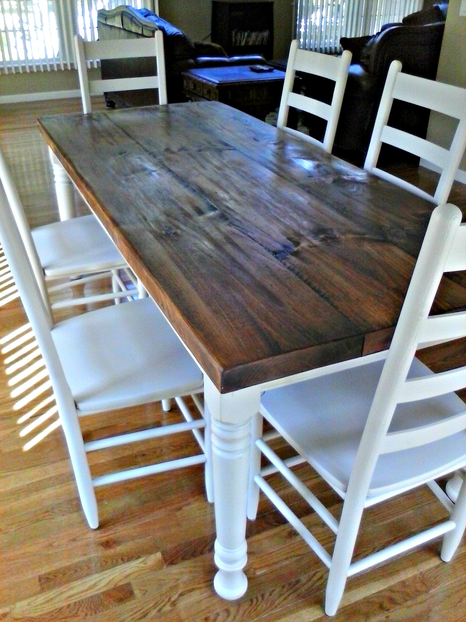 Farmhouse Table Company Painted Legs The New England Farm Table Co