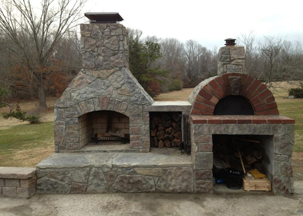 Oval Kitchen Island Outdoor Kitchens, Grills, & Pizza Ovens - New England