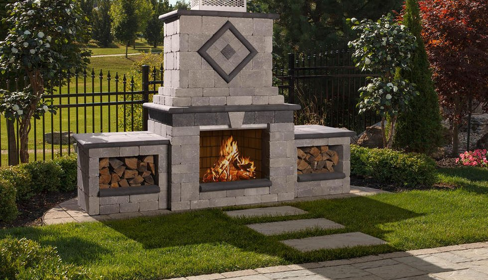 Brasero Exterieur Stone Age Manufacturing Outdoor Fireplaces - New England