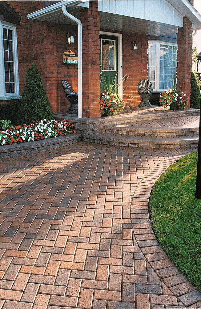 Pathway Lighting Design Ideas Unilock Interlocking Pavers & Retaining Walls - New