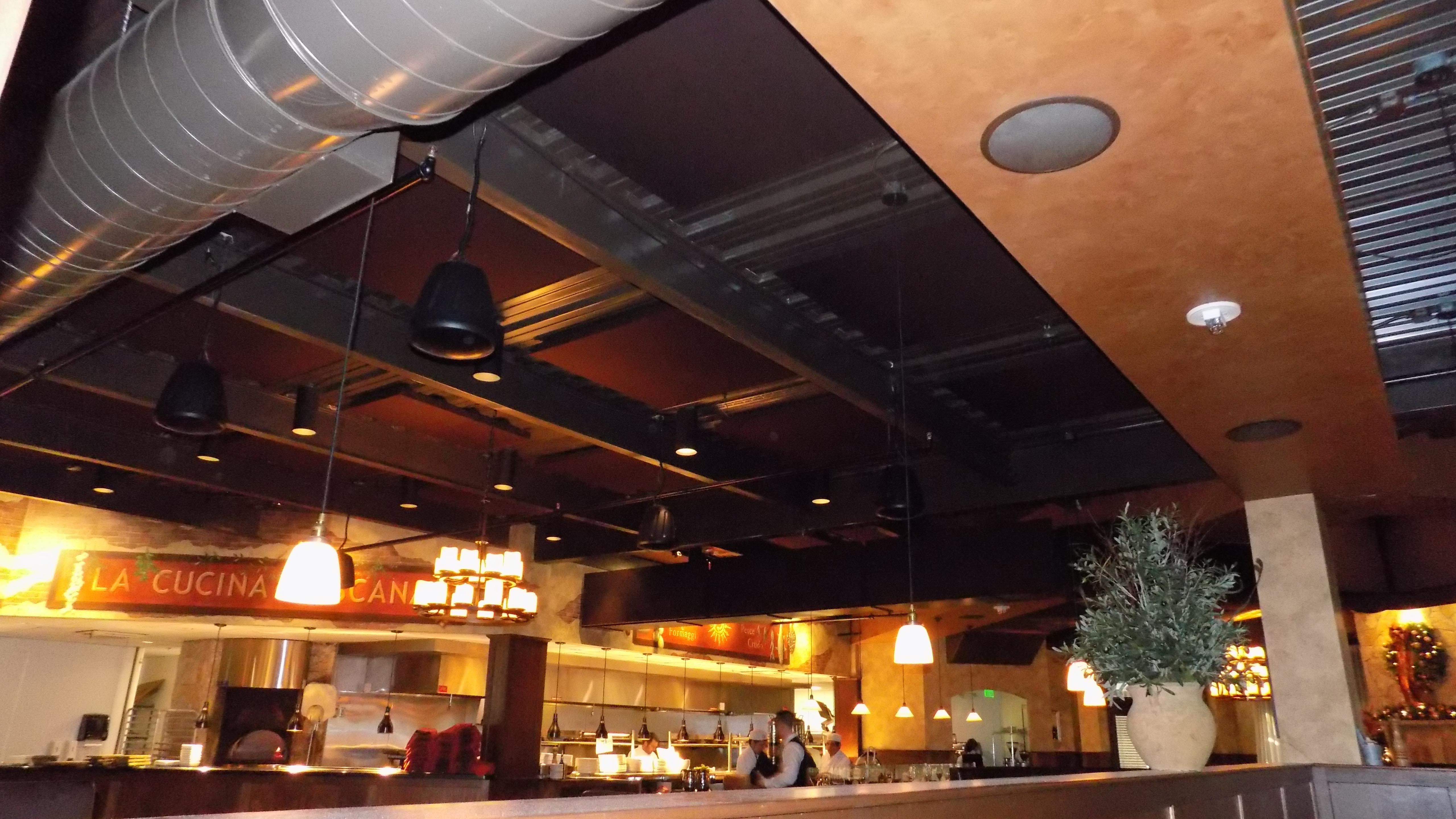 Cucina Restaurant Burlington Soundproofing Reduces Reverberation Time In Restaurant