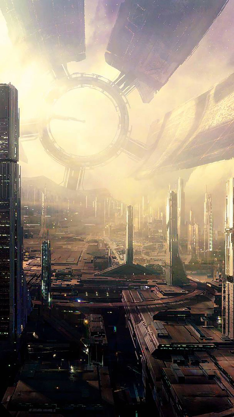 Iphone 6 Wallpaper Size 50 Futuristic City Iphone Wallpapers