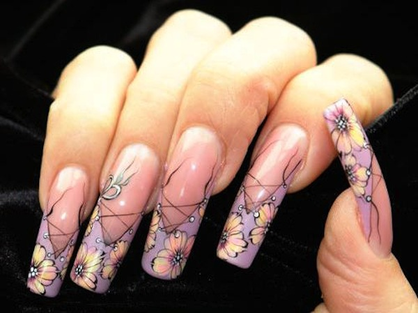 Acrylic Nails French Tip Designs Expression Nails