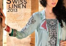 House of Ittehad Swiss Linen Winter collection 2013-14 for Women