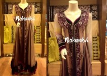 Nakoosh Beautiful Winter Party Wear Dresses Collection 2014 For Women (1)